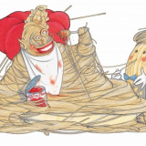 """Illustrazione per """"Il gambero rosso"""""""