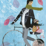 Il padre di Agata, ha comprato una bicicletta e la porta in giro